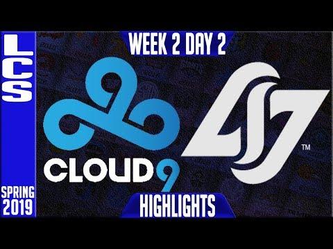 C9 vs CLG Highlights | LCS Spring 2019 Week 2 Day 2 | Cloud9 vs Counter Logic Gaming