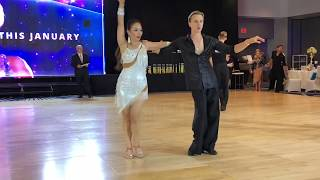 Jenny with Oleg Astakhov - Pro/Am Ballroom dancing - Elite DanceSport 2018 Competition