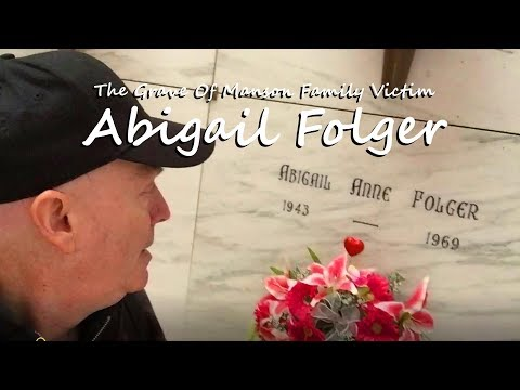 FAMOUS GRAVE - Remembering ABIGAIL FOLGER At Holy Cross Cemetery, In Colma, So. San Francisco, CA