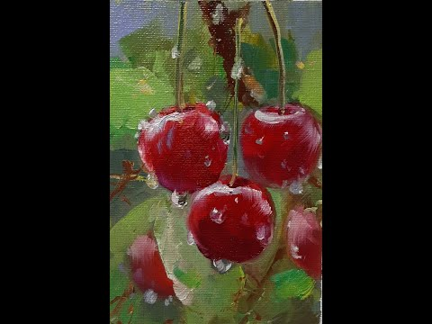 Рисуем вишню (draw A Cherry). Мастер-классы Вугара Мамедова.