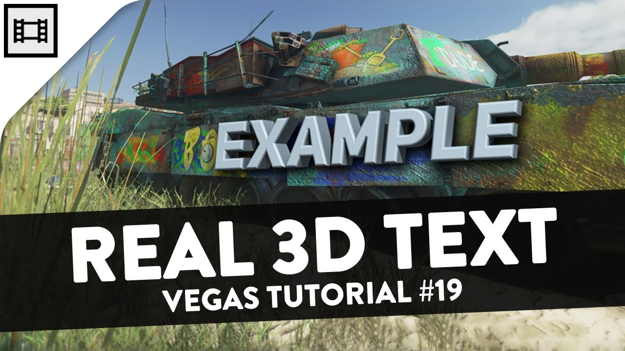 how to make a 3d in sony vegas