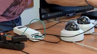 Podłączenie i konfiguracja systemu bezprzewodowego przesyłania sygnału z kamer IP w monitoringu CCTV