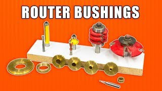 Wood Router Bushings and Router Bit Speeds