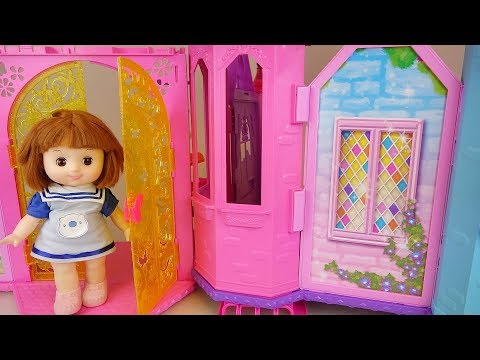 Baby Doll house and kitchen cooking food play