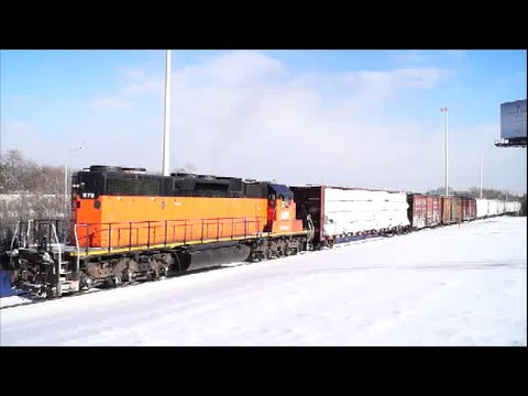 Bessemer & Lake Erie # 878 Pulls The Local  (SD38-2)