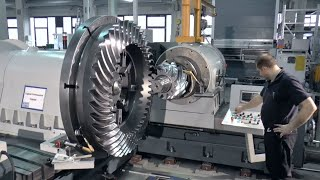 Amazing Huge Gear Production Process   CNC Machine In Working