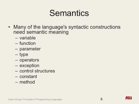 "CSE 340 F16: 9-23-16 ""Semantics Pt. 2"""