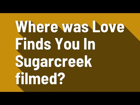 Where was Love Finds You In Sugarcreek filmed?