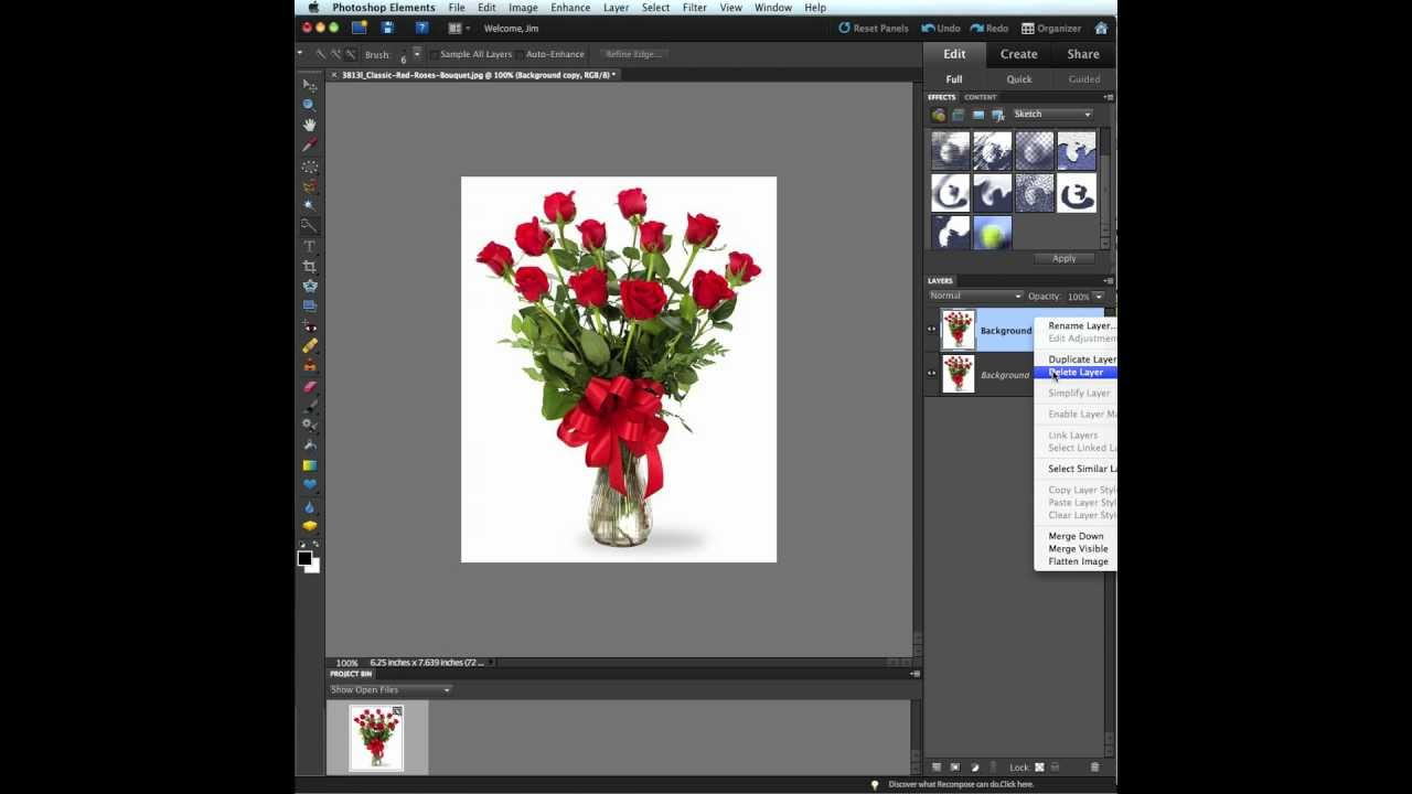 Adobe Photoshop Elements 9 Filter Effects pt 1 Coloring page