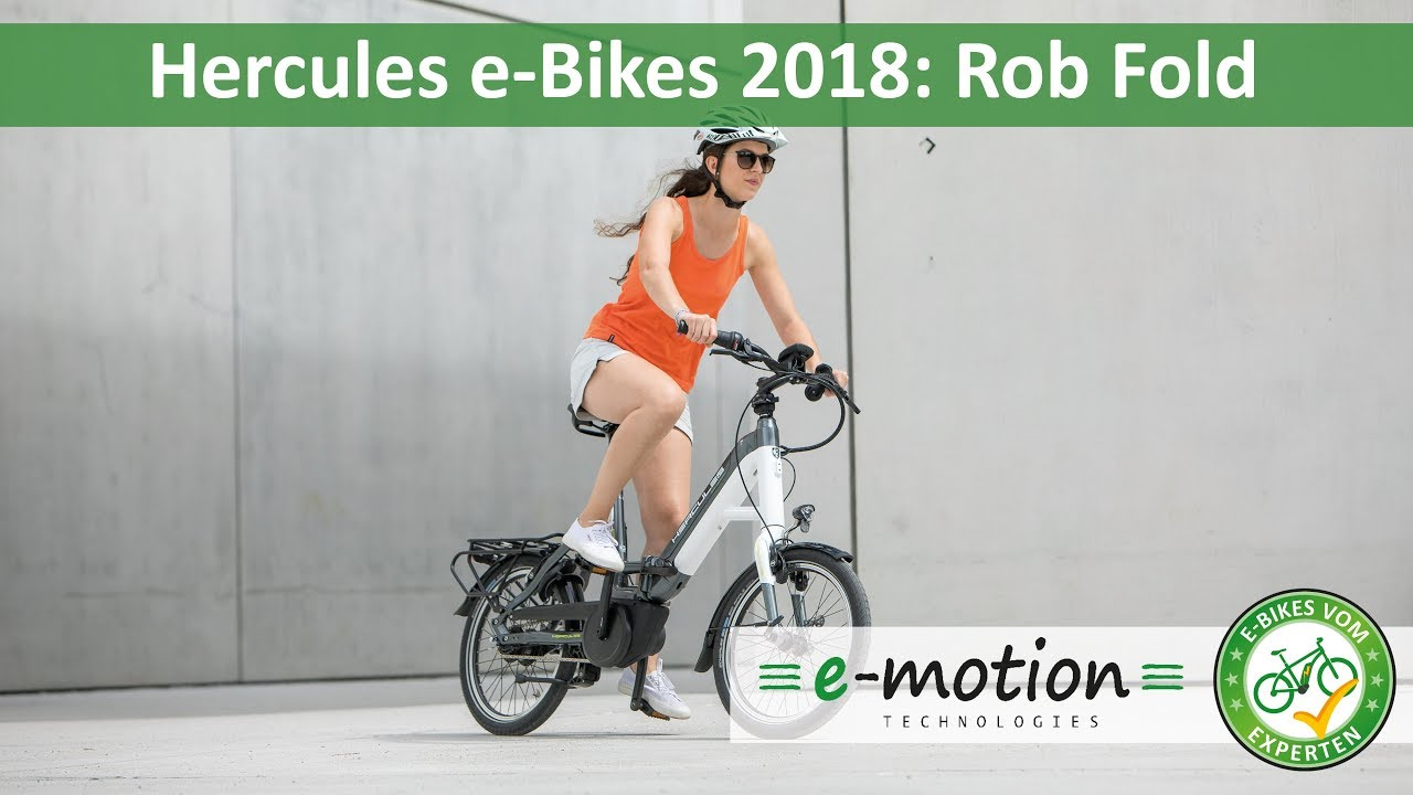 Hercules e-Bikes: Rob Fold 2018 | Pedelec Preview, Vorstellung - YouTube