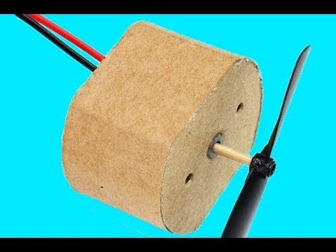 DC Motor, How To Make A DC Motor At Home (Cardboard DC Motor)