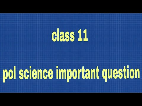 Class 11 Important Questions Of Pol Science