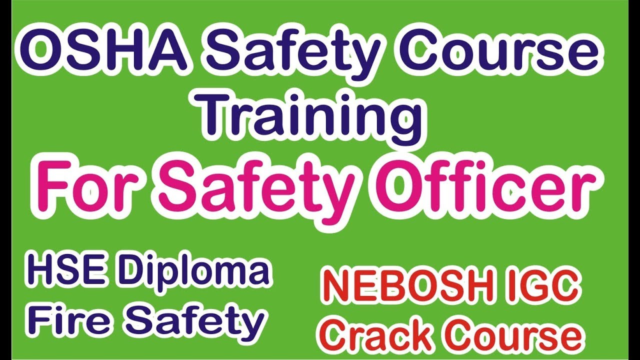 Online Health Safety Courses Training In India