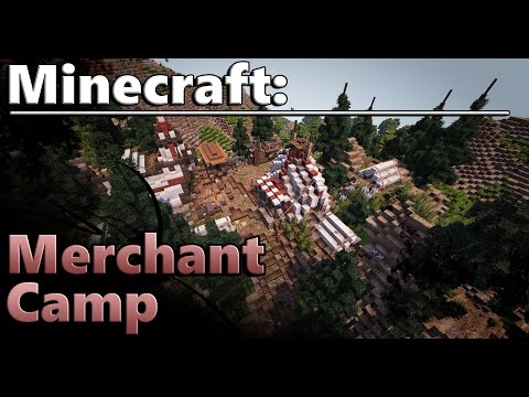 Minecraft: Building a Medieval Merchant Camp