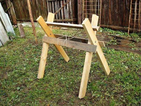Козлы для распиловки дров - своими руками, чертежи Firewood Cutting Stand - drawings