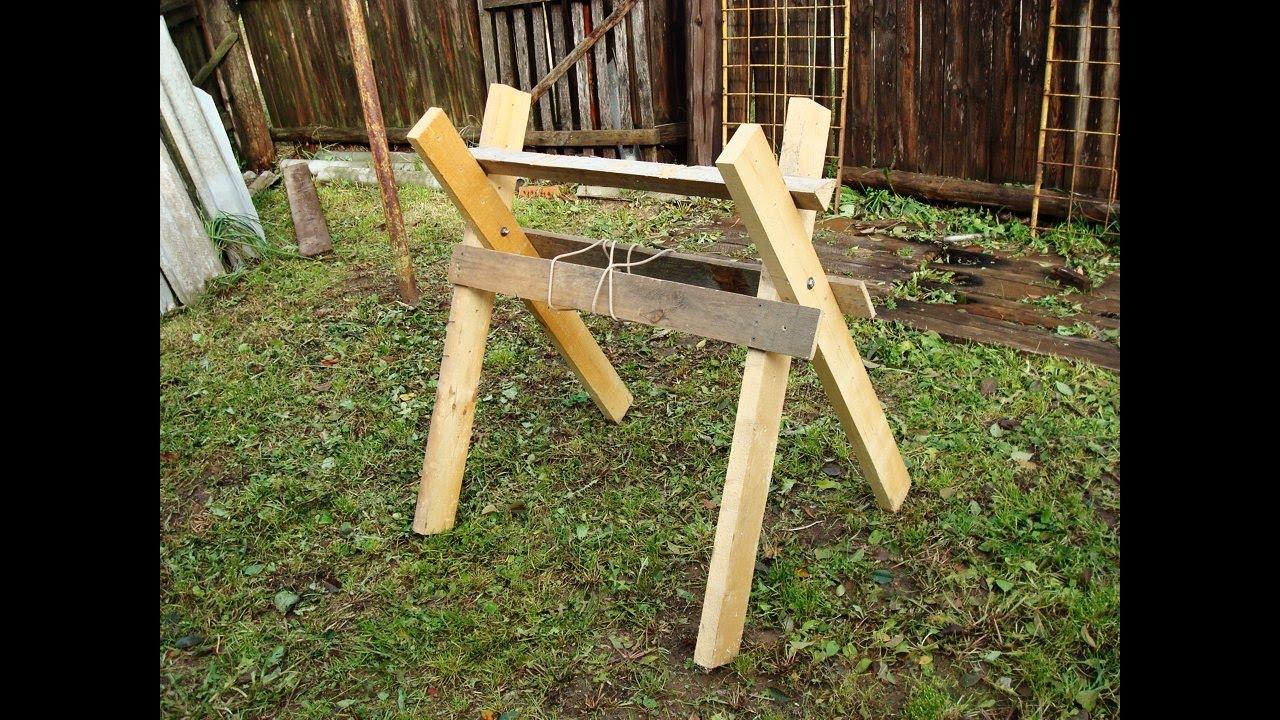 Как сделать козёл для распилки дров своими руками 135