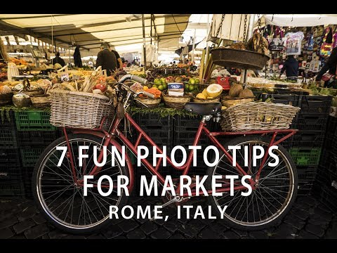 7 Fun Photo Tips for Markets: Campo De Fiori, Rome Italy