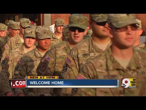 Northern Kentucky welcome back Army Reserve unit