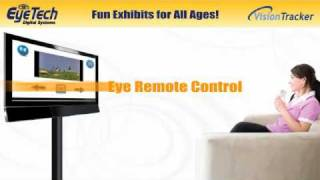 Eye Gesture Interactive Display Audience Measurement Exhibit