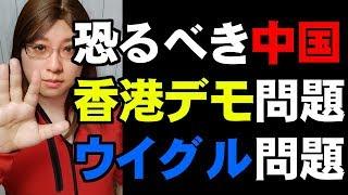 香港デモ解説+共産党の真の恐ろしさウイグル問題 Hong Kong demo. Uyghur problem.
