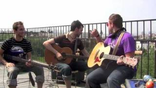 Cobalt and the Hired Guns - Acoustic Rooftop Performance, Crown Heights, Brooklyn, NY 7-25-09