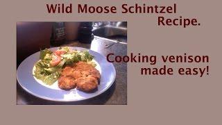 Wild Moose Schnitzel/cutlet