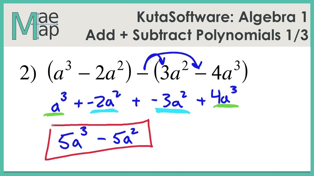 Practice 8 1 Adding And Subtracting Polynomials Worksheet Answers ...
