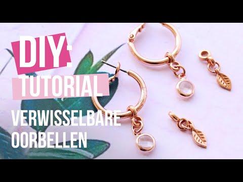 Sieraden maken: Verwisselbare oorbelen ♡ DIY