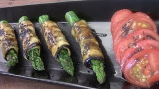 How To Make Grilled Asparagus Wrapped In Eggplant
