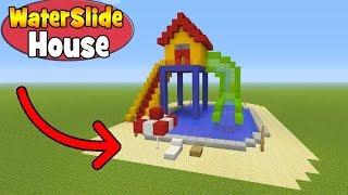 "Minecraft Tutorial: How To Make A Waterslide House ""Waterslide Minecraft"""