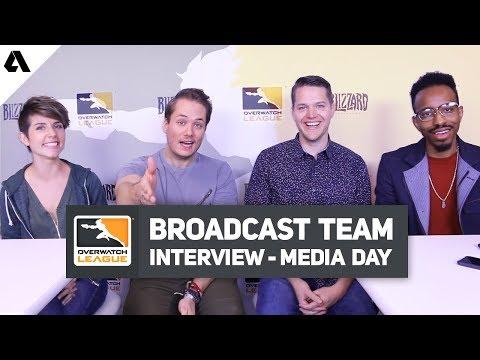OWL Broadcast Talent Interview ft. Soe, Uber, Puckett & Malik - Overwatch League 2019 Media Day thumbnail