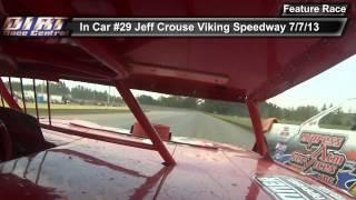 In Car Jeff Crouse Viking Speedway WISSOTA Super Stock 7 7 13