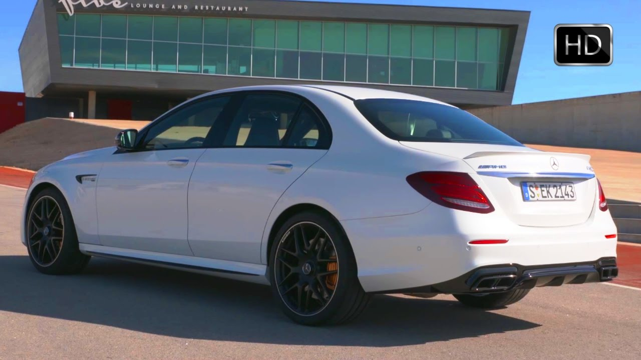 S63 Amg Sedan 2017 >> 2018 Mercedes-AMG E 63 S 4MATIC+ Sedan (White) Exterior & Interior Design Overview HD - YouTube