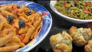 Penne In Creamy Italian Sauce By Cooking For Busy People With Dawn Hall