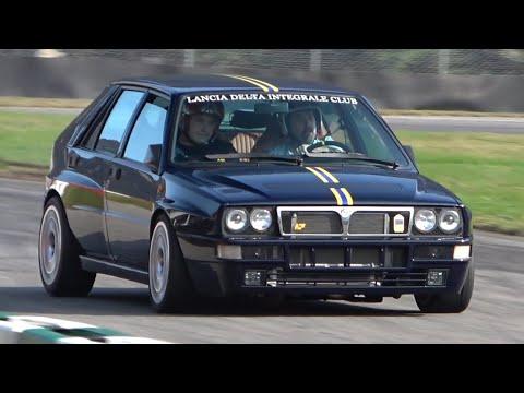 530HP Lancia Delta Integrale EVO 2 goes CRAZY in a Kartdrome! - LOUD Turbo & Wastegate Sounds!