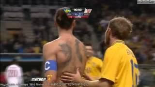 zlatan ibrahimovic hattrick amazing goal sweden england 4 2