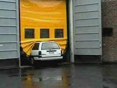 DYNACO Roll up Doors - Safety Demonstration & DYNACO Roll up Doors - Safety Demonstration - YouTube