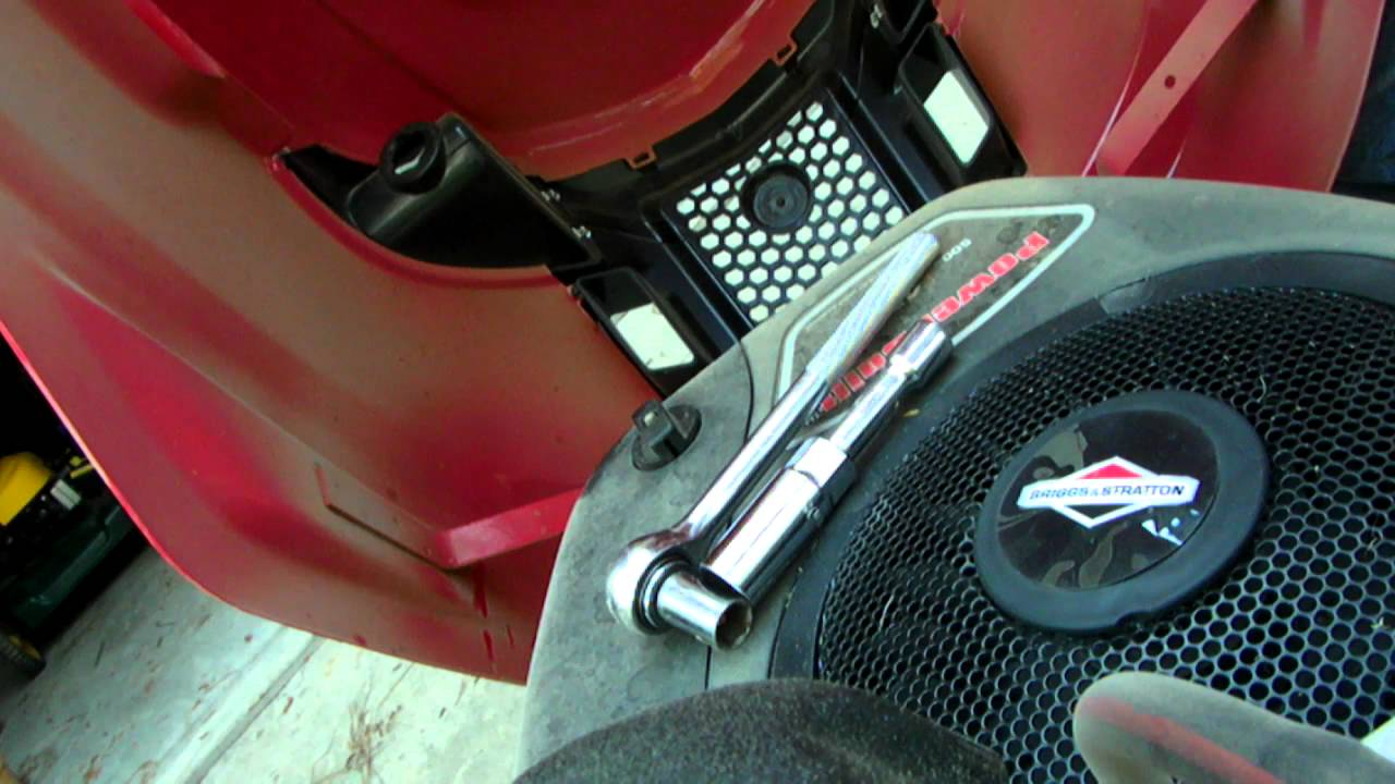 Lawn Mower Tune Up Parts : Pb blasting a riding mower lawn tune up part