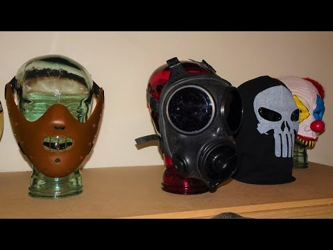 Glass Display Heads For Gas Masks Etc