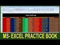 Exercise 19 | Excel Practice Book | How To Make Petty Cash log In Ms Excel