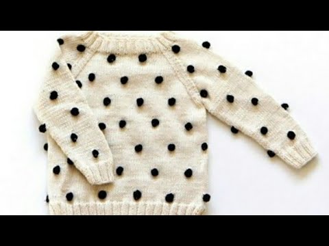 Woolen Bubbles On Sweaterknitting In Hindisweater For Babies