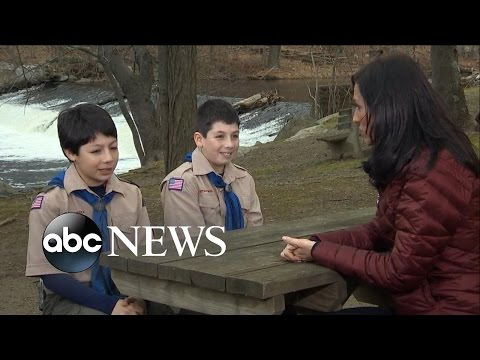 Two Boy Scout Brothers Save Their Scout Leader From a Bear Attack