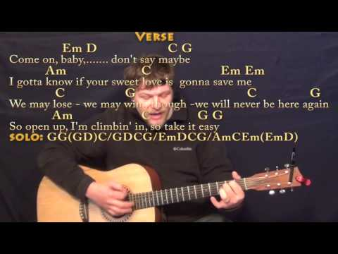 Take It Easy (Eagles) Strum Guitar Cover Lesson with Chords/Lyrics