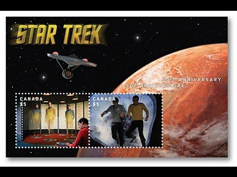 STAR TREK Memories 2 Canada Post collector stamps