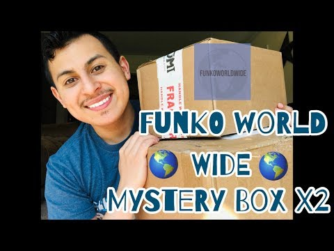 Two Funko World Wide Chase Mystery Boxes