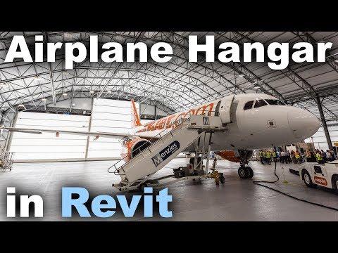 Airplane Hangar in Revit Tutorial - YouTube