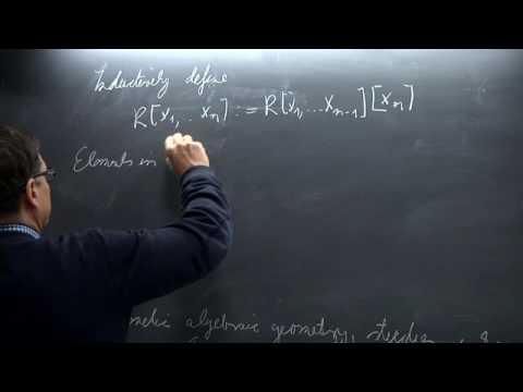 Algebraic Geometry - Lothar Göttsche - Lecture 01
