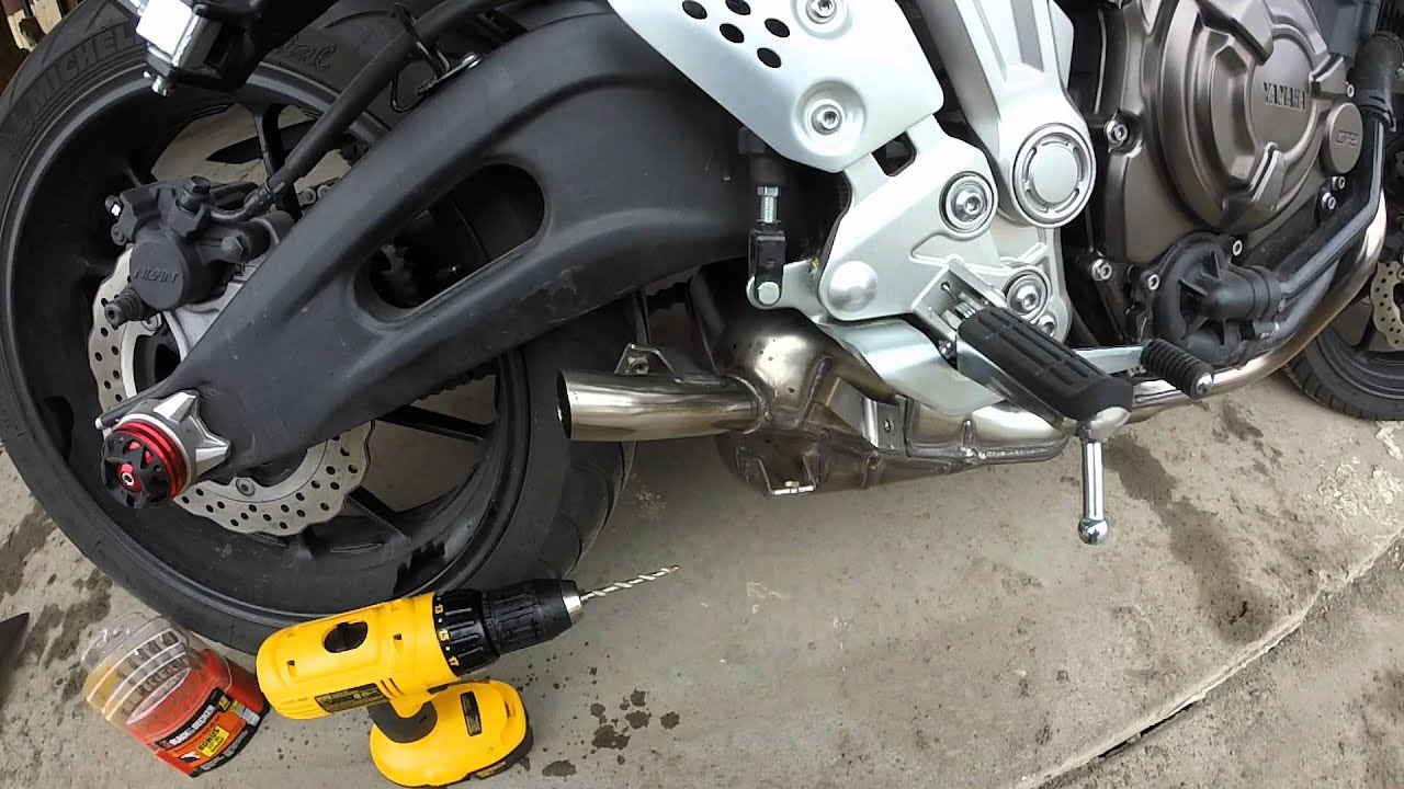 Fz 07 Stock Exhaust Mod Phase 1 3 16 Quot Holes Drilled