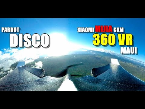 PARROT DISCO 4K 360 VR Flight with XIAOMI MIJIA SPHERE Cam - Maui Hawaii Auto Mission
