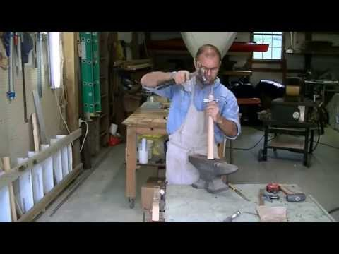 How to make a adze out of a lawn mower blade? Tool used to carve wooden bowls.